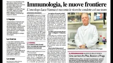 """La Nazione Viareggio – """"Immunologia, le nuove frontiere"""""""