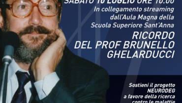 Sabato 10 luglio un evento per ricordare il Prof. Brunello Ghelarducci
